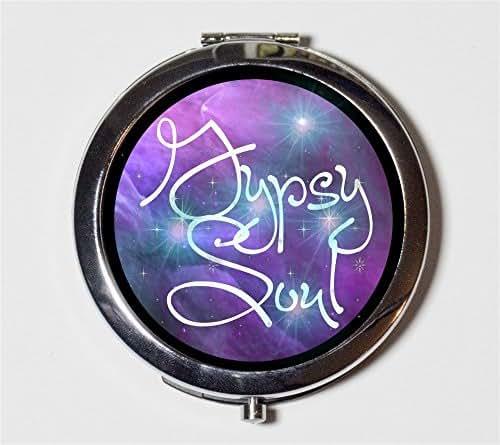 Gypsy Soul Compact Mirror Bohemian Boho Hippie Festival Accessory Pocket Mirror for Cosmetics