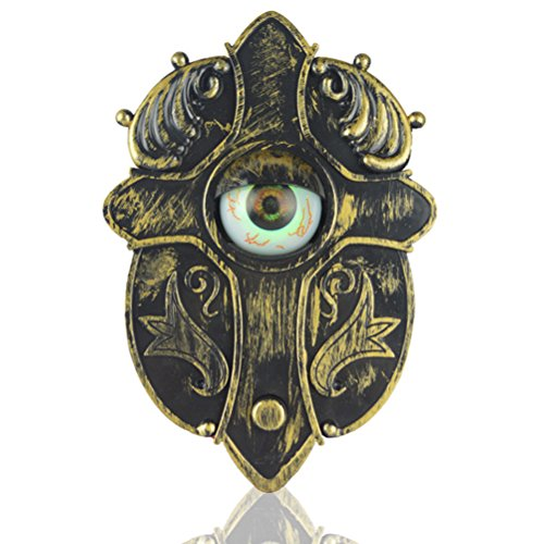 LUOEM Halloween Doorbell Light Up Eyeball Talking Scary Sounds for Party Bar Door Decorations Kids Gift Toys]()