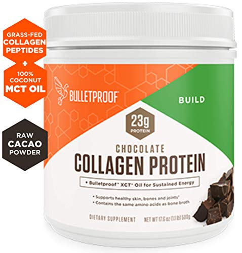 Bulletproof Collagen Peptides Protein Powder - Chocolate Flavored Hydrolyzed, Grass Fed, Pasture Raised, Ketogenic Diet, Amino Acid Building Blocks for High Performance (17.6 oz) ()