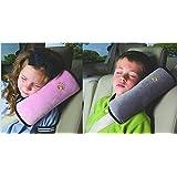 WP-TT® 2pcs Auto Pillow Car Safety Belt Protect, Shoulder Pad, Adjust Vehicle Seat Belt Cushion For Kids (Grey,Pink)