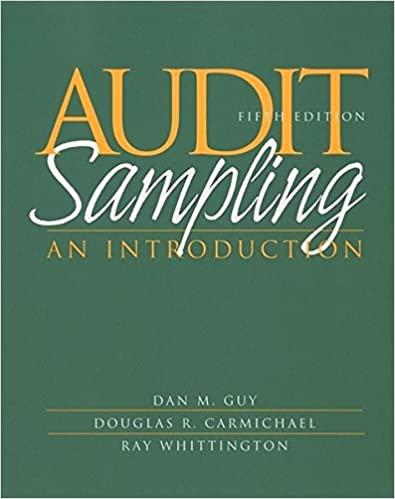 Audit sampling an introduction to statistical sampling in audit sampling an introduction to statistical sampling in auditing 5th edition fandeluxe Gallery