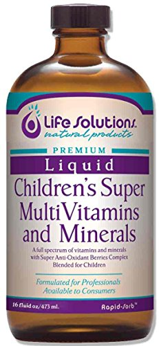 Liquid Children's Super MultiVitamins and Minerals - 32oz. - Life Solutions