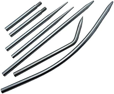 5 Pc 550 Paracord Leather Stainless Steel Stitching And Lacing Needle Fid Set