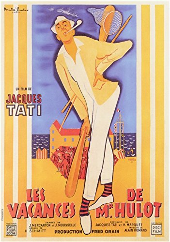 Mr. Hulot's Holiday Poster Movie French Jacques Tati Natalie Pascaud Michelle Rolia