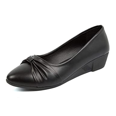 Zapatos De Trabajo Zapatos Planos Para Mujer Oficina Zapatos De Cuña Mocasines Zapatos De Trabajo Casual Zapatos Perezosos: Amazon.es: Ropa y accesorios