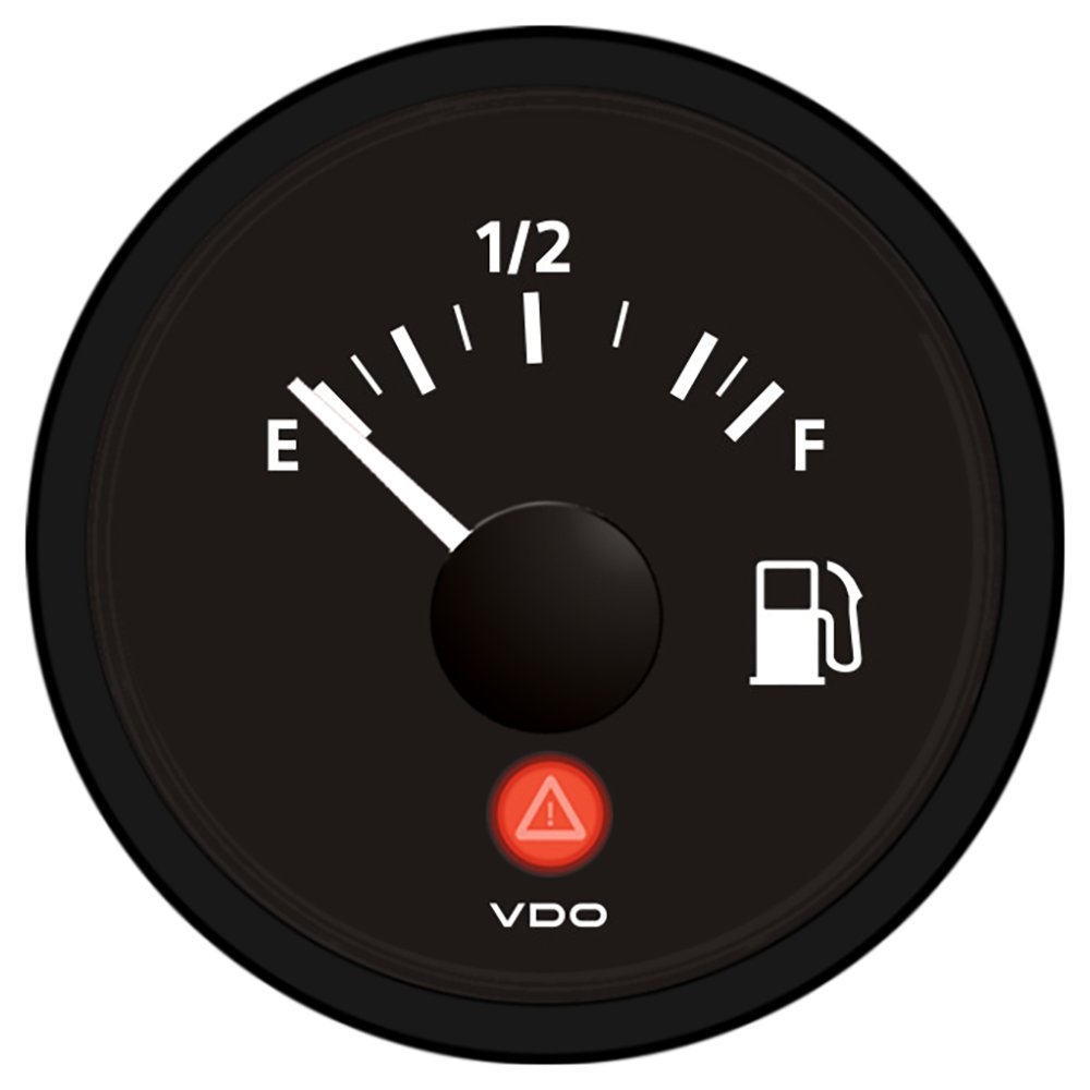 VDO Viewline Fuel Gauge 12/24V - Use with 240-33 Ohm Sender A2C53412988-S
