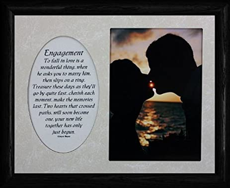 8x10 engagement photo poetry frame holds a portrait 5x7 picture black - Engagement Photo Frames