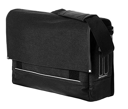 Basil Urban Fold Messenger and Bicycle Pannier Bag - Black - 20 Litres by Basil