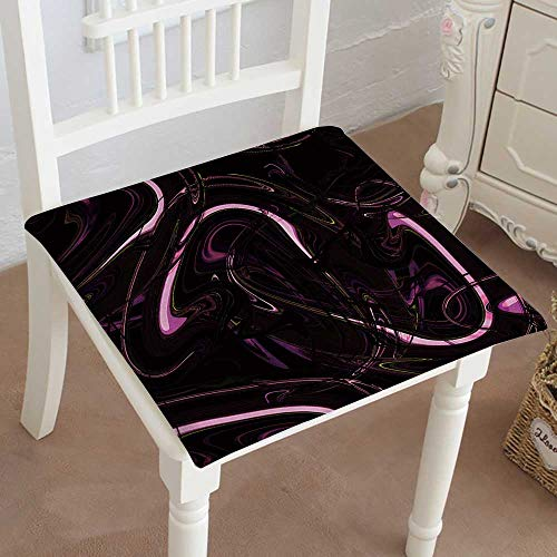 Mikihome Dining Chair Pad Cushion Marbled suminagashi Background Surface Wallpaper with Marbled Fashions Indoor/Outdoor Bistro Chair Cushion 26