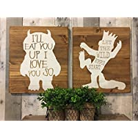 Where The Wild Things Are Baby Shower, I'll you up I love you so, nursery art, king of all wild things, Where the wild things are birthday