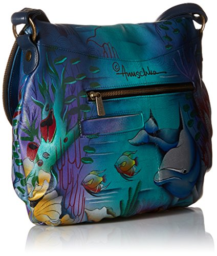 Anuschka Flap Dolphin Large LL Over World Convertible rqTnprfxC5