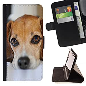 Momo Phone Case / Flip Funda de Cuero Case Cover - Perro de perrito lindo Mascotas Mutt Mestizo Sad - Samsung Galaxy S5 V SM-G900