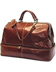 Floto Luggage Positano Grande Carry All, Vecchio Brown, Medium