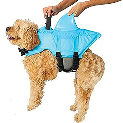 Swimways Sea Squirts Doggie Jacket, Blue