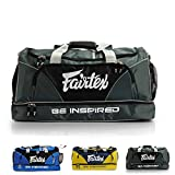 Fairtex Gym Bag Gear Equipment Color Blue or Gray or Yellow for Muay Thai, Boxing, Kickboxing, MMA (Gray)