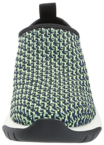De Fix Vrouwen Laylah Slip-on Jogger Sneaker Groen / Wit Gebreide Textiel