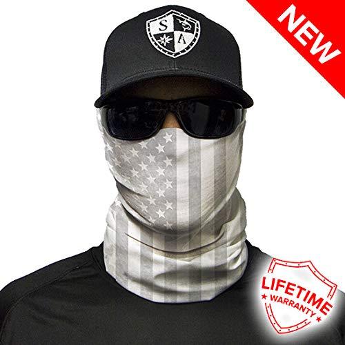 SA Company Whiteout American Flag Face Shield//Loop Scarf//Bandana//Balaclava Outdoor Activity Face Mask Multi-Functional Headwear//Scarf SPF 40 Fishing//Motorbike etc.