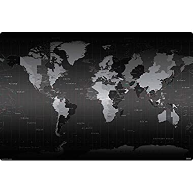 Microthin 24x36-Inch Imagine Work Surface Ultra-Thin Non-Slip Desk Pad - World Time Zones Map