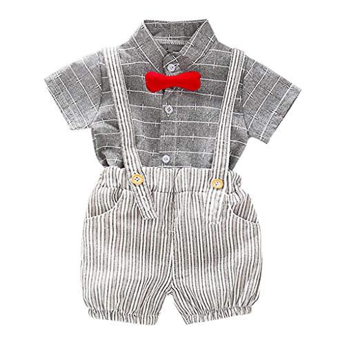 Xturfuo Baby Boys Bowtie Gentleman Romper Jumpsuit Overalls Rompers ()
