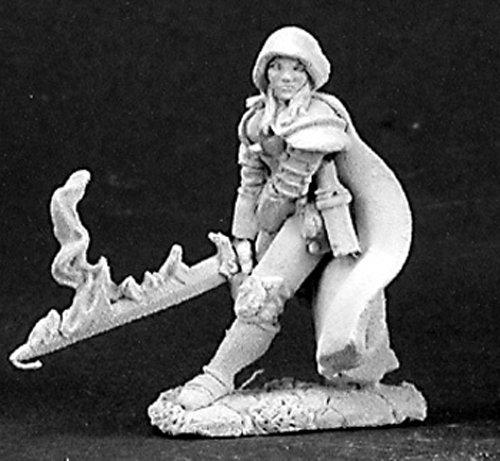 Reaper Miniatures Justine, Undead Hunter #03149 Dark Heaven Unpainted Metal ()
