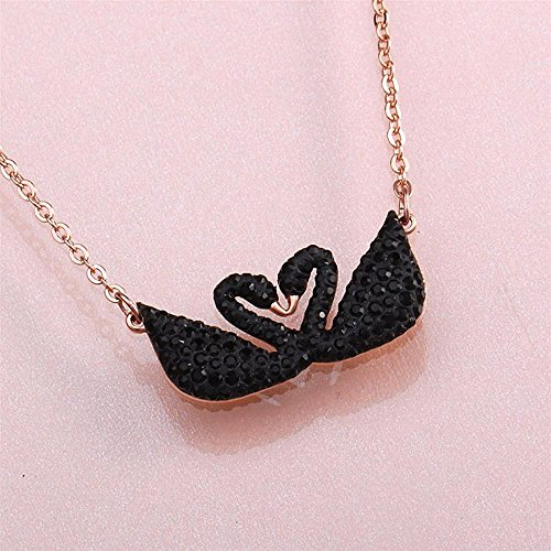 8ac46e072 Swarovski Iconic Swan Double Necklace, Black 5296468 Length: 14 7/8 inches