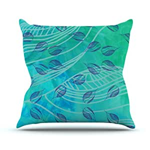 "Kess InHouse Catherine Holcombe ""Sweet Summer Swim"" Outdoor Throw Pillow, 18 by 18-Inch"