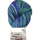 Artisan Yarns Hand Dyed Baby Alpaca Yarn, Hand Painted African Violet, Dk Weight, 80 Grams, 200 Yards, 100% Baby Alpaca