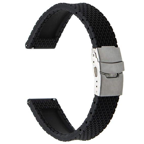 Bestow Xiaomi Amazfit Correa de Goma Negra del Buzo Modelo de Neumš¢tico Radial Correa de Reloj Reloj de Pulsera Electrš®nica Gadgets(Negro): Amazon.es: ...
