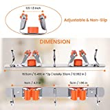 MOHOO 2 Pack Broom Holder Wall Mount Stainless