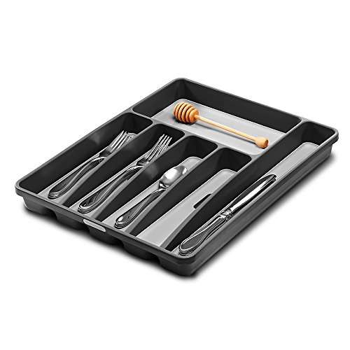 Madesmart Large Silverware Tray, (Flatware Drawer Organizer)