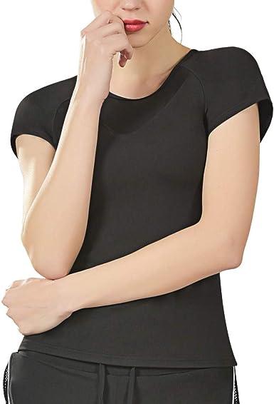 LEvifun Blusa Suelta De Mujer Manga Corta Camiseta con Estampado De Color Sólido Movimiento De Malla Tops Casuales Camisa del O-Cuello Top De La Moda Mujer De Camiseta Tops Mujer Verano: Amazon.es: