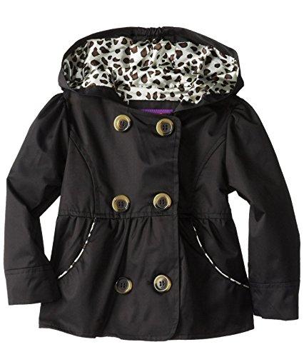 Pink Platinum Little Girls'  Double Leopard Trench Rain Jacket