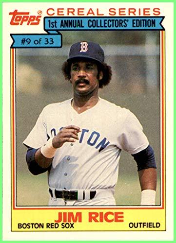 JIM RICE HOF BOSTON RED SOX 1984 TOPPS CEREAL SERIES #9 Vintage ()