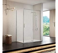 Frente de ducha MASELA, puerta corredera PERFIL CROMADO ALTO BRILLO 121-126cm: Amazon.es: Bricolaje y herramientas
