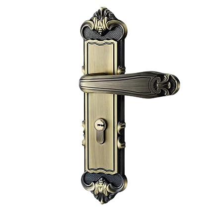 LPW Cerradura de Puerta Europea Bronce Verde aleación de Zinc Cerradura de Puerta Cerradura de Puerta