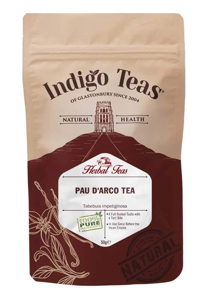 Indigo Herbs PAU d'Arco Tea 50g | Loose Herbal Tea |Dried Shredded Bark | Caffeine & GMO Free