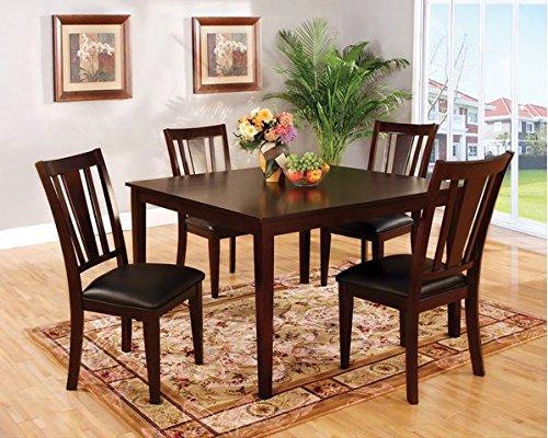 Modern Fashionable Wood/Leather Dining Set