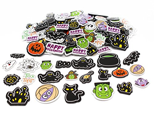 JOYIN 500 Pieces Halloween Foam Craft Stickers Assortment Halloween Scrapbook Stickers Self Adhesive Shapes for Halloween Craft Supplies, Halloween Novelty and Halloween Party Favors