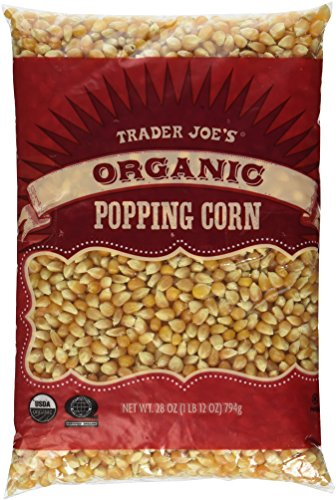 3 Packs Trader Joe's Organic Popping Corn
