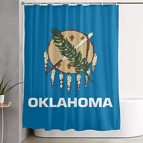 LNC 01P Oklahoma State Flag Home Shower Curtain Waterproof Bathroom Shower Curtain Quality Polyester Decor Shower Curtain 60