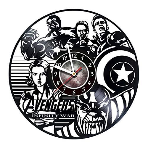 Iskra Shop Vinyl Record Wall Clock - Get unique living room wall decor - Gift ideas for men and women, children - Marvel Comics Unique Art Design - Leave us a feedback and win a clock !
