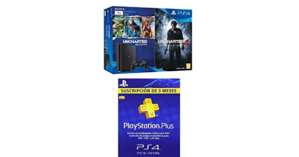 PlayStation 4 Slim (PS4) 1TB - Consola + Uncharted ...
