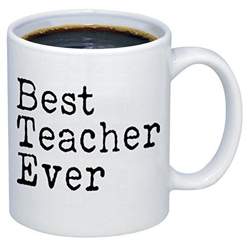 P&B funny mugs P&B Best Teacher Ever Gift Ceramic Coffee Mugs M122 (11 oz.)