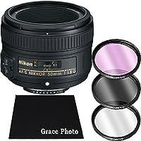 Nikon AF-S NIKKOR 50mm f/1.8G Lens Bundle for Nikon DSLR Cameras (White Box)