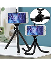 Mobile Phone Stand, BEHEY Portable Adjustable Tripod Stand with Octopus Leg, Flexible Ultra-Durable Cell Phone Holder for Smartphone, Mobile Phone, Cellphone, Digital Camera