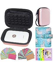Cpano Set di accessori per stampante fotografica portatile pignone HP/Custodia protettiva per stampante mobile Polaroid ZIP (Oro)