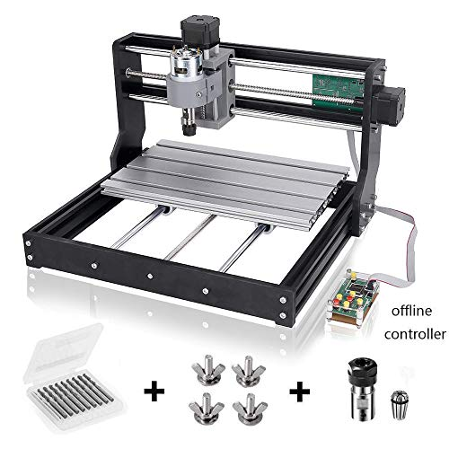Upgraded Version CNC 3018 Pro Engraving Machine, GRBL Control 3 Axis Mini DIY CNC Router Engraver with Offline Controller, Working Area 30018045mm, for Wood Plastic Acrylic PCB PVC