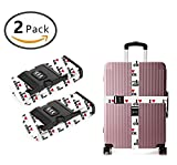 YEAHSPACE 2PC Set I Love Cock Funny Luggage Straps TSA Approved Lock Suitcase Belts Travel Tags Accessories