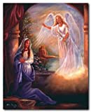 Mother Mary With Angel Femrite Religious Catholic Wall Picture Art Print (8x10)