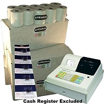 eposbits® marca 100 rollos + 5 x de tinta para máquina de escribir Olivetti ECR300 ECR 300 Caja Registradora: Amazon.es: Oficina y papelería